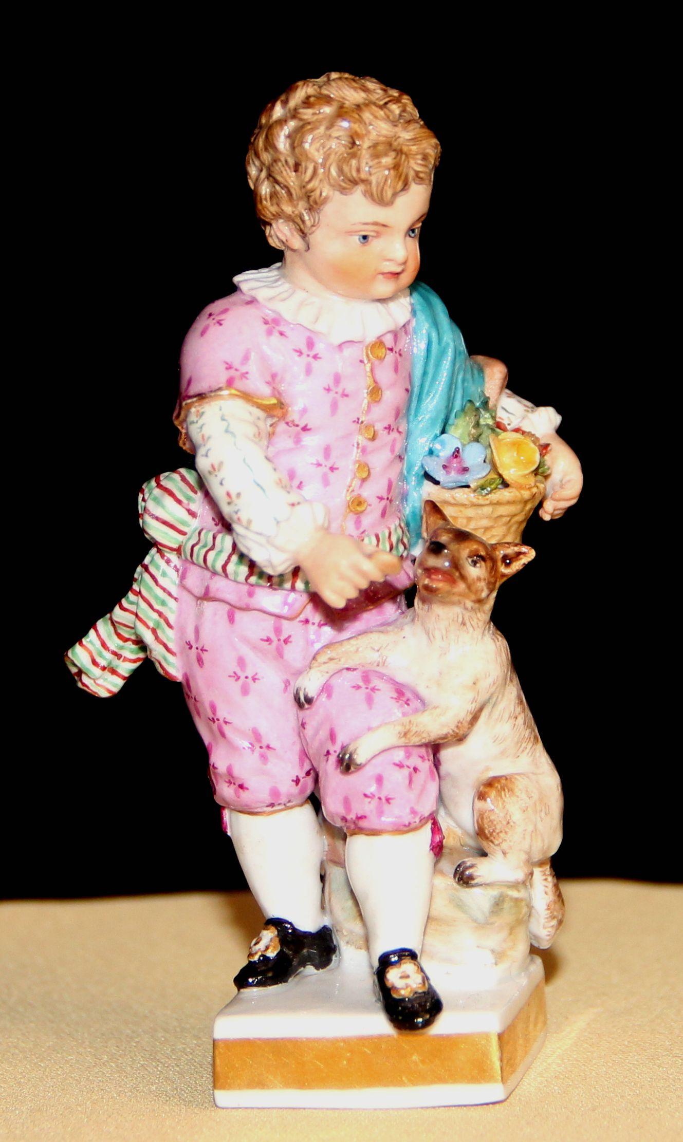 Миниатюрная композиция «Мальчик с собачкой»