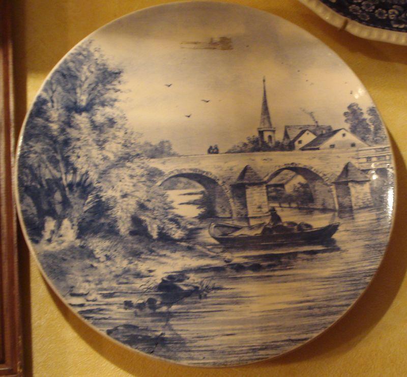 Тарелка декоративная «Каменный мост»