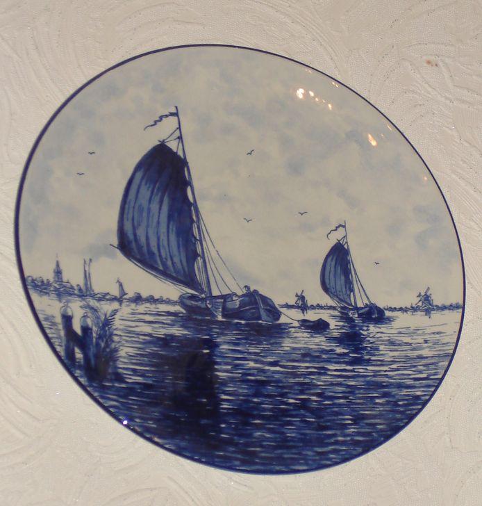 Тарелка декоративная «Кораблик»
