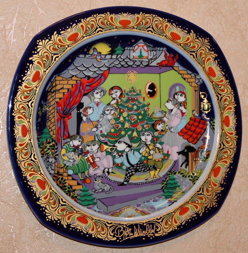 Декоративные тарелки-пластины из серии «Рождество в фарфоре»