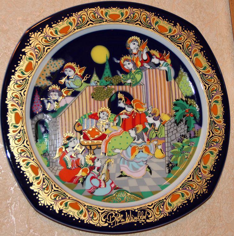 Декоративные тарелки-панно из серии «Рождество»