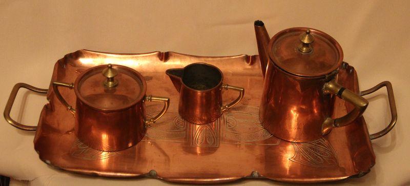 Чайный набор на подносе
