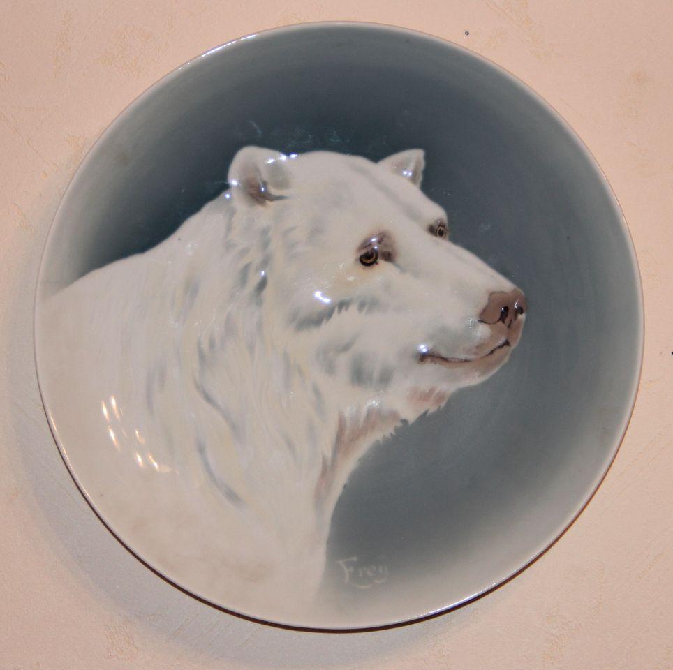 Тарелка декоративная «Голова белого медведя»