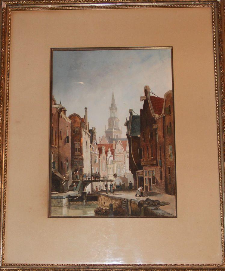 «Узкий канал в Голландском городе»