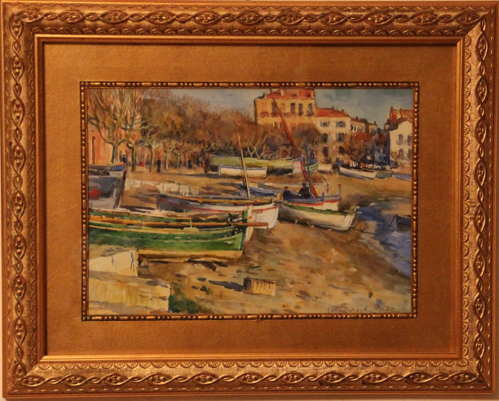 Лодки на берегу реки Изер