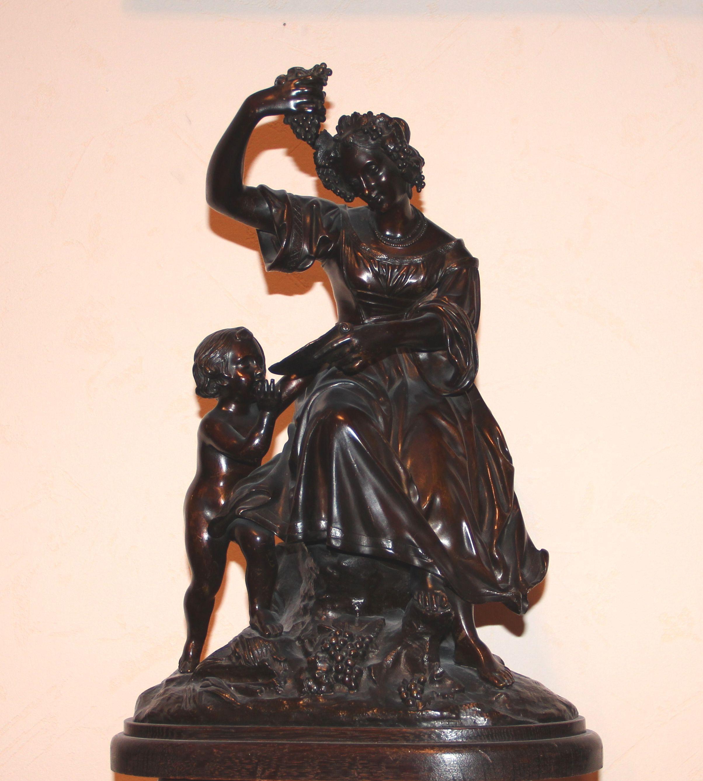 Скульптурная композиция «Мать и дитя»