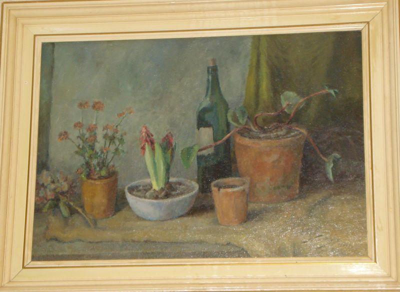 Натюрморт с цветами в горшках